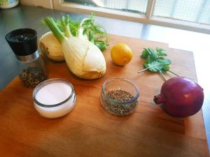 Ingredienten recept venkelsalade
